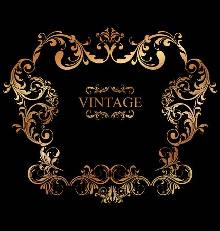 vintage card with ornament background Stock Vector - 10869143