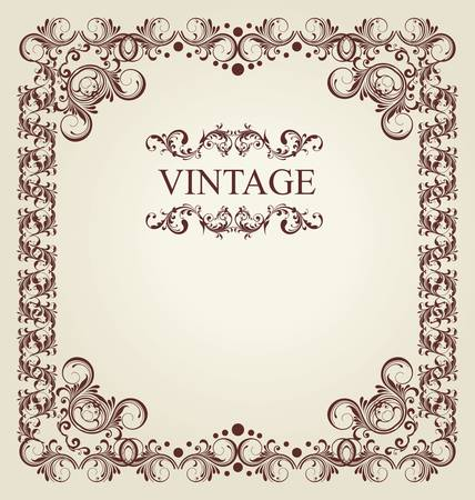 vintage card with ornament background Stock Vector - 10869086
