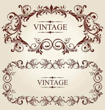 veters: vintage kaart met ornament achtergrond