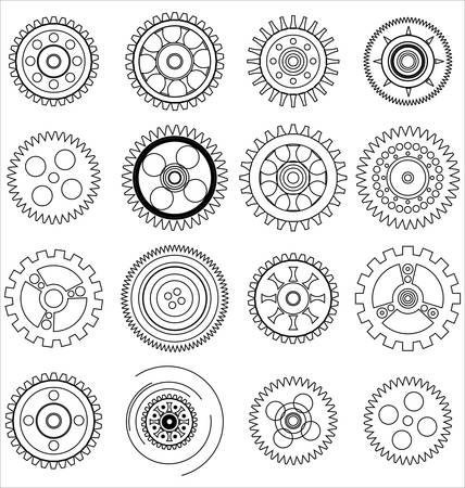 clock gears: gears set Illustration