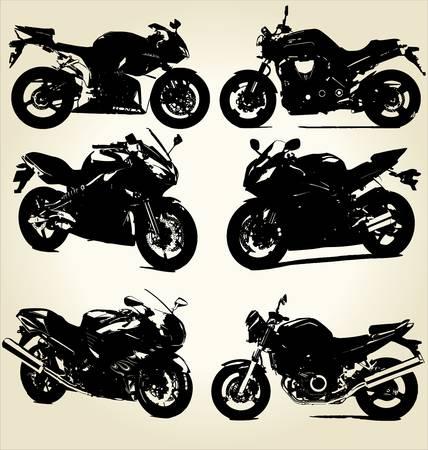 motociclista: Moto Super Silhouettes Vettoriali