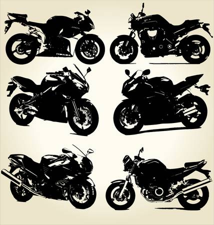 motorcyclist: Super Bikes Silhouettes