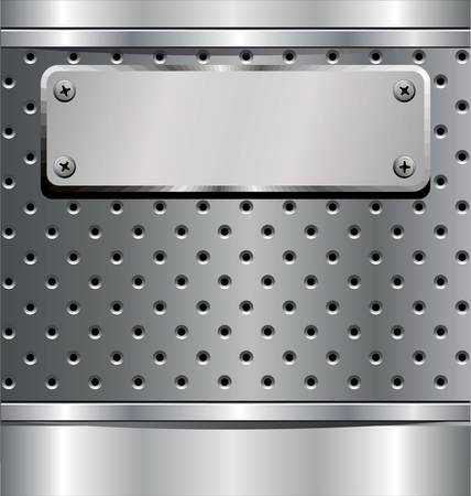 grating: Perforated Metal Background