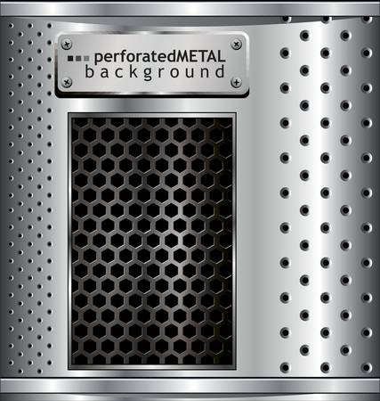 reticular: Perforated Metal Background