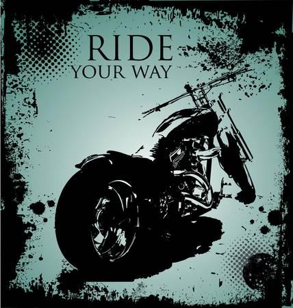 arrière-plan avec une image de moto