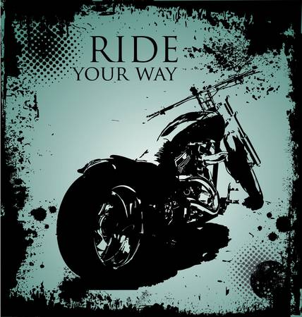 background with a motorcycle image Stock Vector - 10869106