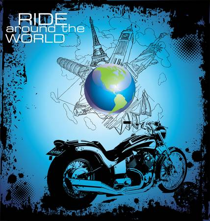 landmark: background with a motorcycle image
