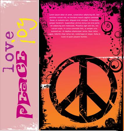 peace and love: A illustration of a peace symbol