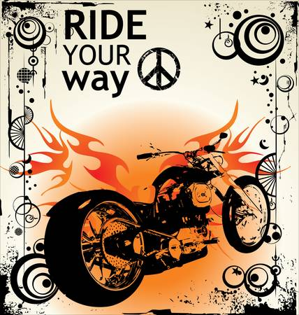 background with a motorcycle image Vector