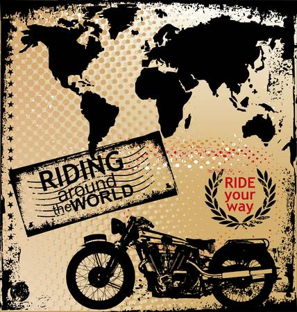 background with motorcycle image Vector