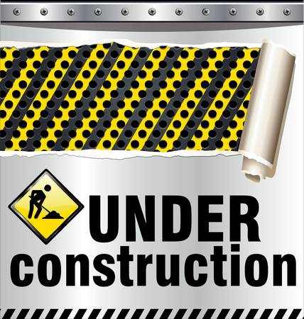 Under construction background Stock Vector - 10869104