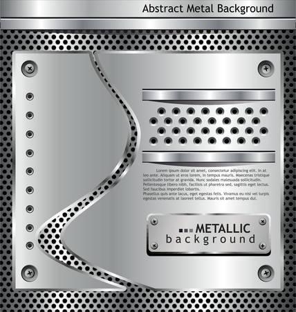 metal net: met�licos de fondo Vectores