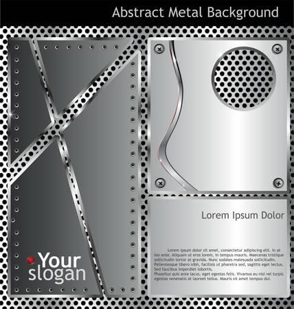 metallic background Stock Vector - 10869081