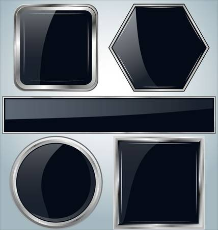 glossy metallic frames Vector