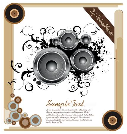 Vector illustration for a musical theme Vector