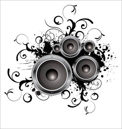 loudspeaker: Music background
