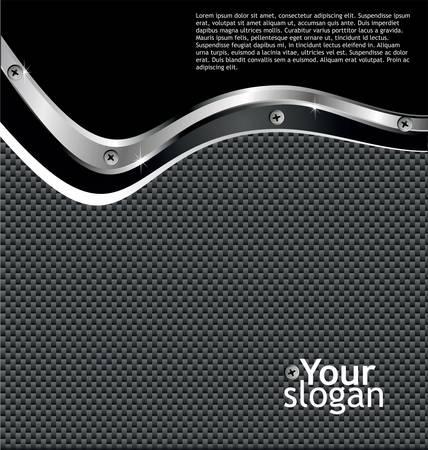 dark fiber: Metal koolstofvezel glossy Achtergrond