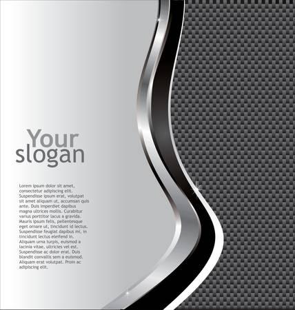 Metaal carbon fiber glossy Achtergrond Stock Illustratie