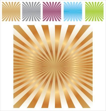 Retro burst abstract background