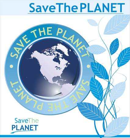 Save the planet background Stock Vector - 11094806