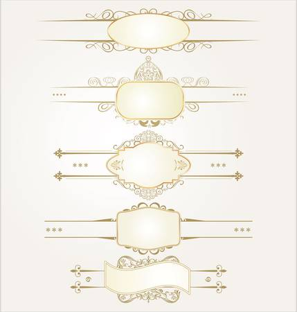 Decorative ornate elements with calligraphic elements Stock Vector - 11153159