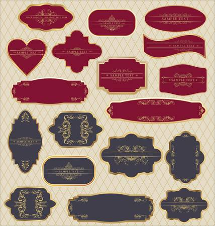 art product: Vector set: vintage