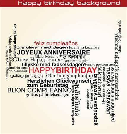 Happy birthday background Stock Vector - 11350236