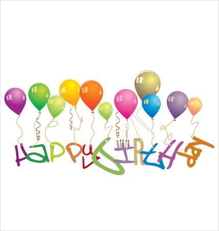 cartoon birthday cake: Happy Birthday Card, Vector Illustration Illustration