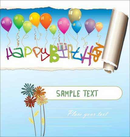 Happy Birthday Card, Vector Illustration Vector