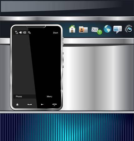 Modern glossy smartphone background Vector