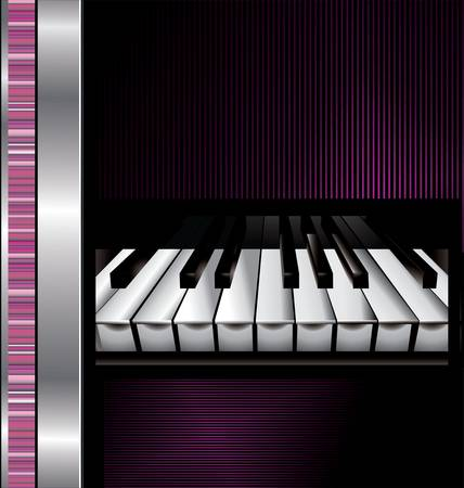 old piano: Abstract music background Illustration