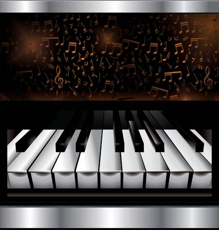 concert grand: Abstract music background Illustration