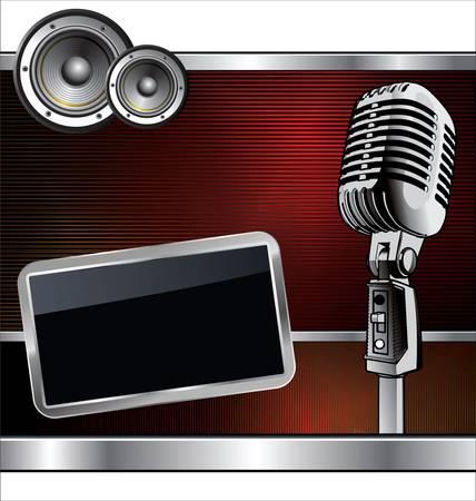 microfono de radio: Música de fondo abstracto