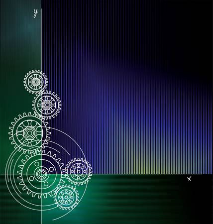 gear motion: Abstract gears background Illustration