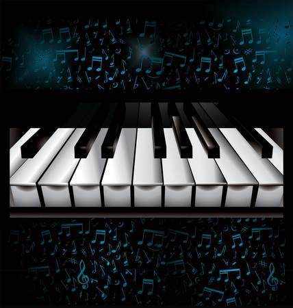 musical score: Music piano background