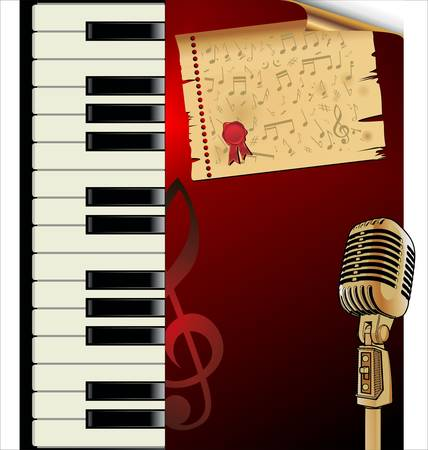 piano roll: music background