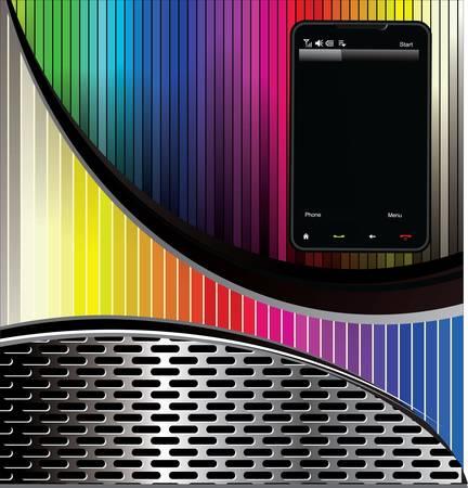 Smartphone background Stock Vector - 11568974
