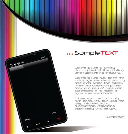 website layout: Smartphone background