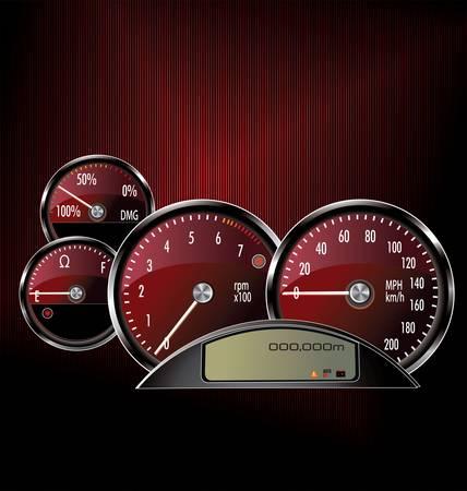 speed limit: speedometer