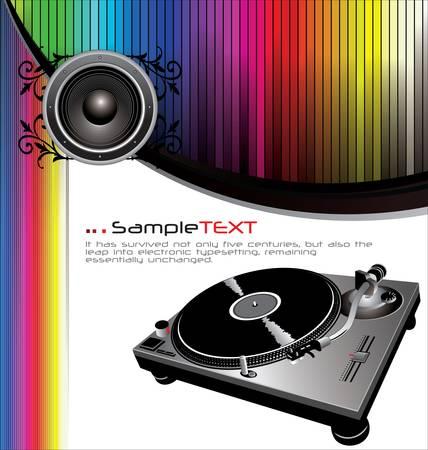 giradisco: Musica di sottofondo Vettoriali