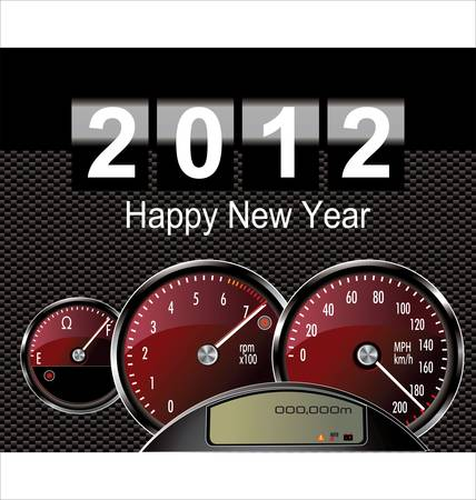 2012 year - speedometer car Vector