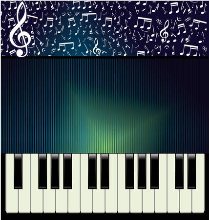acoustically: Abstract music background Illustration