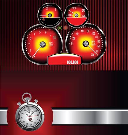 kilometer: Speedometer background Illustration