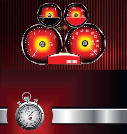 rev: Speedometer background Illustration