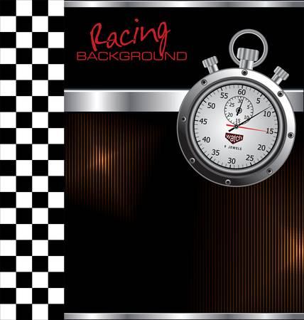 velocímetro: Las carreras de fondo Vectores