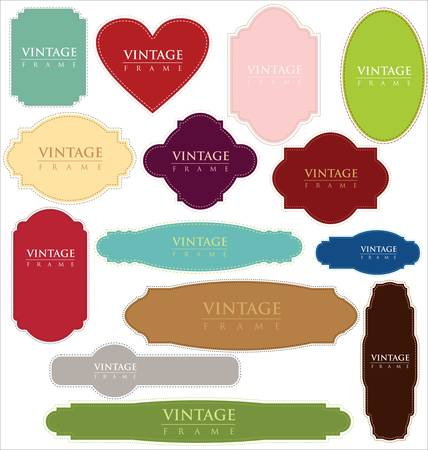 vintage labels - set Stock Vector - 11569000