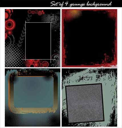 Set of 4 grunge backgrounds Stock Vector - 11569014
