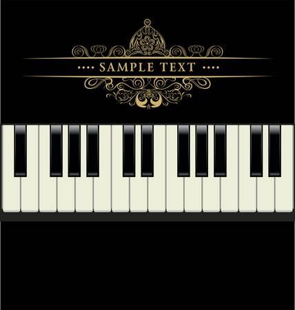 teclado de piano: vector de teclado de piano
