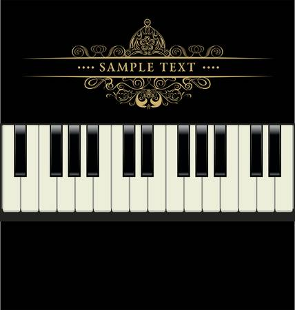 klavier: Vektor Klaviertastatur Illustration