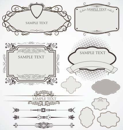 vector set: calligraphic design elements and page decoration Vector